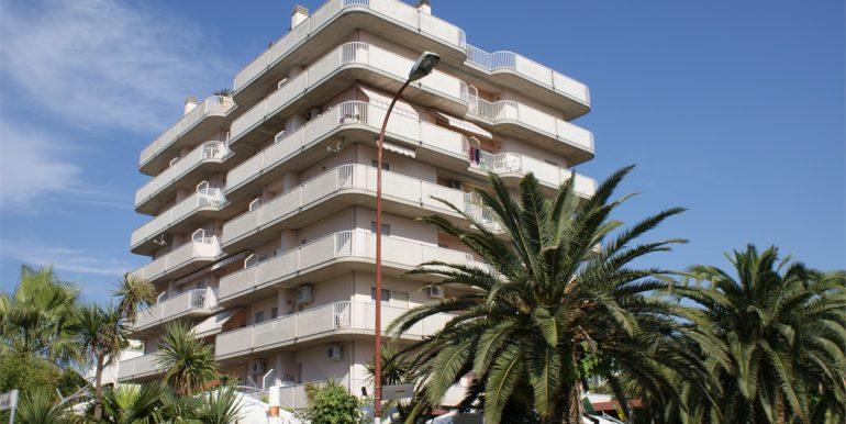 esterno dell'appartamento attico di Via Cherubini a San Benedetto del Tronto