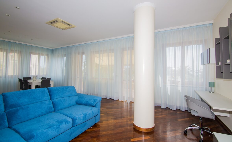 salotto della casa per vacanze vicino al centro di San Benedetto del Tronto