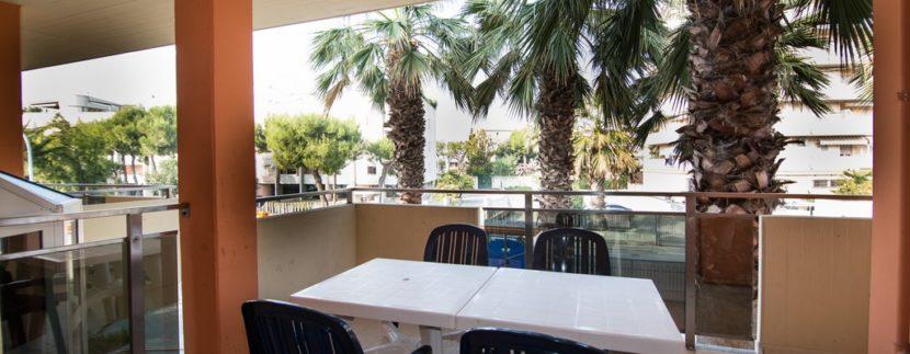 terrazzo appartamento della palazzina Azzurra a San Benedetto del Tronto