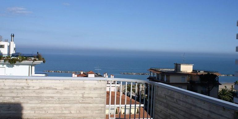 vista dell'appartamento attico di Via Cherubini a San Benedetto del Tronto