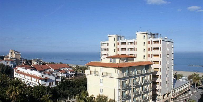 vista panoramica dell'appartamento attico di Via Cherubini a San Benedetto del Tronto